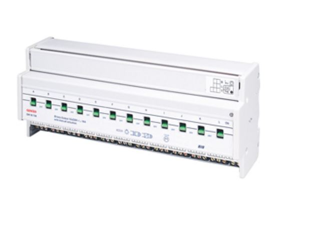 KNX ACTUATOR 12 CHANNEL 16A WITH MANUAL ACTUATION - DIN RAIL