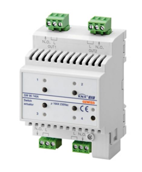 KNX ACTUATOR 4 CHANNEL 16AX - DIN RAIL
