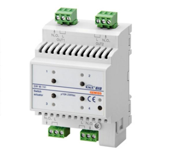 KNX ACTUATOR 4 CHANNEL 10A - DIN RAIL