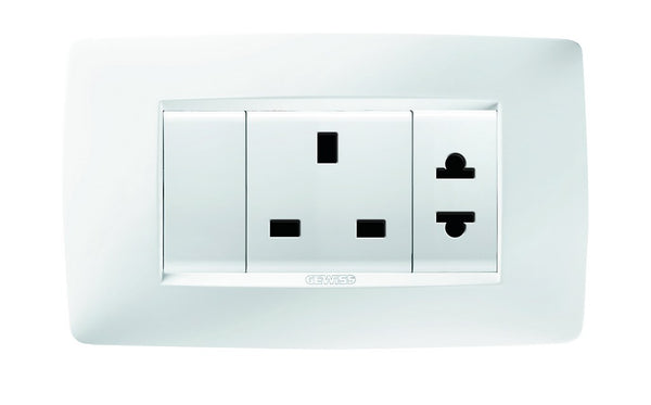 4 GANG 15A+EURO AND BRITISH+AMERICAN 2 SW SOCKET OUTLET KIT