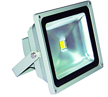 85/265VAC 30W WARM WHITE LED ALUM. FLOOD LIGHT IP65