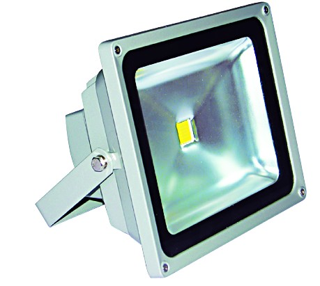 85/265VAC 30W COOL WHITE LED ALUM. FLOOD LIGHT IP65