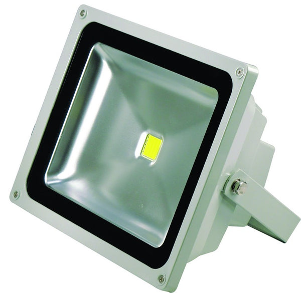 85/265VAC 50W COOL WHITE LED ALUM. FLOOD LIGHT IP65
