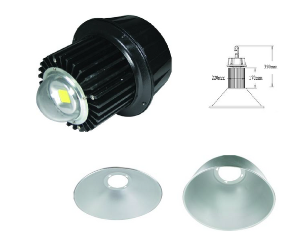 240VAC LED HIGHBAY LED HEAD (NO DOME) 100W COOL WHITE IP65