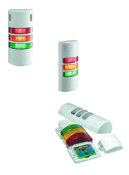 110VAC 3 LIGHT SIGNAL TOWER RED.YELLOW,GREEN FLASHING
