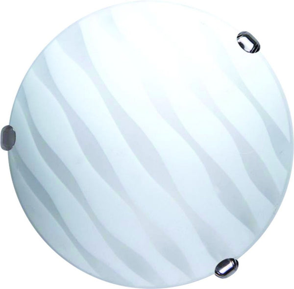 "12"" FULL MOON, 2xE27, METAL BODY, GLASS COVER CEILING MOUNT"