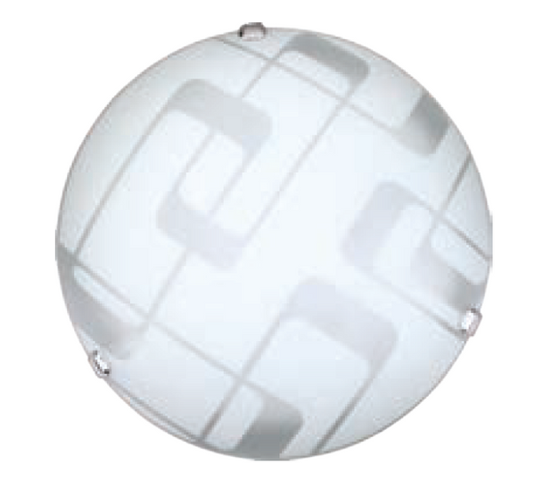 "16"" FULL MOON, 3xE27, METAL BODY, GLASS COVER CEILING MOUNT"