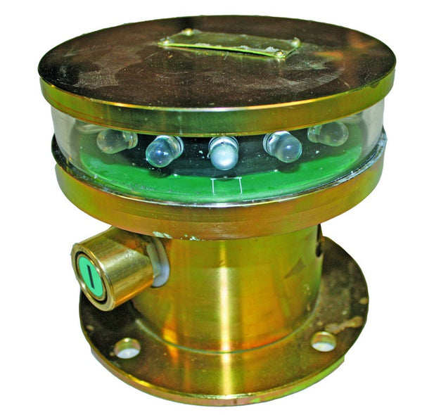 9-36VAC/DC 3W GREEN FLAMEPROOF ROTATING LED FLASHER