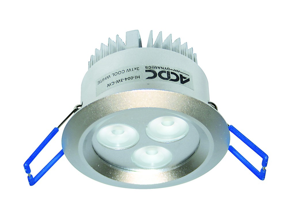 9W HI-POWER YELLOW LED DOWNLIGHT 230VAC C/W LED DRIVER