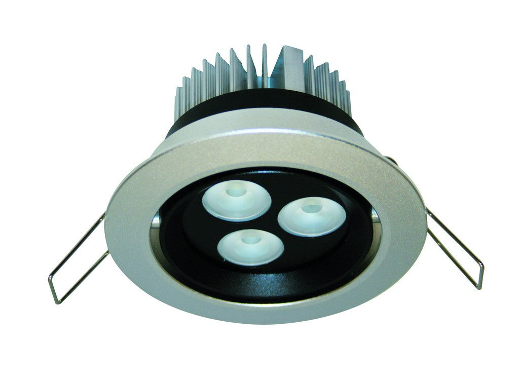 9W HI-POWER WARM WHITE LED DOWNLIGHT 230VAC C/W LED DRIVER