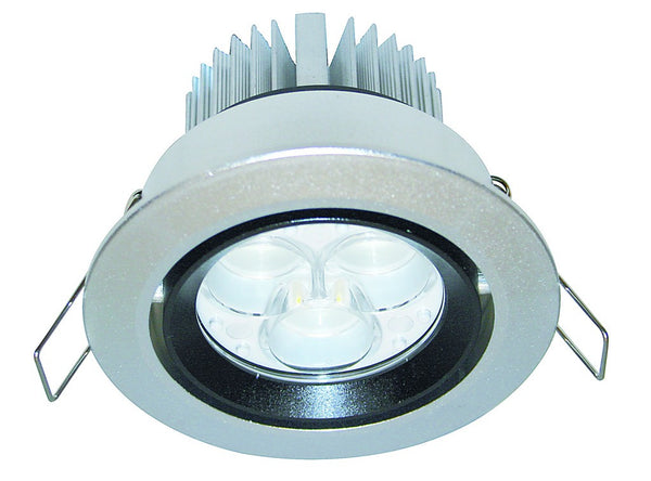 9W HI-POWER COOL WHITE LED DOWNLIGHT 230VAC C/W LED DRIVER