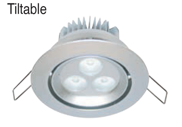 3W HI-POWER BLUE LED DOWNLIGHT 230VAC C/W LED DRIVER