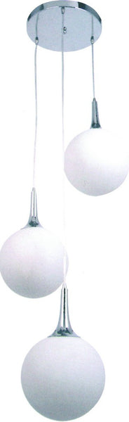230VAC 3X60W E27 PENDANT LIGHT FITTING Ø240XH1200 MM