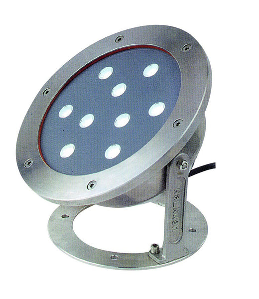 230VAC 9W BLUE LED S/S SPOT LIGHT IP68