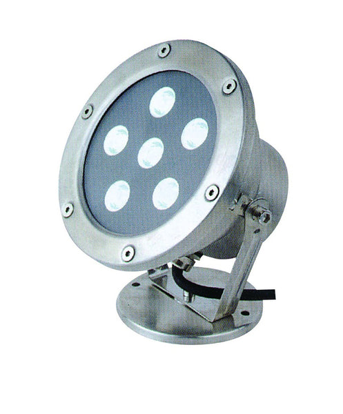 230VAC 6W BLUE LED S/S SPOT LIGHT IP68