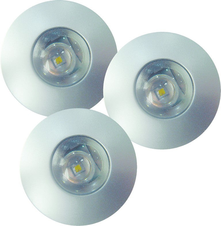 230VAC WARM WHITE 3Pc LED PLASTIC LIGHT 1W C/W DRIVER IP20