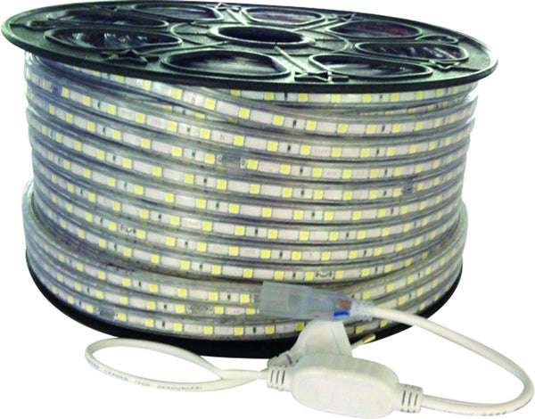 230VAC 4.8W/M 60LED/M LED FLEX ROPELIGHT WARM WHITE IP67 50M