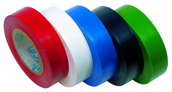 10 METRE WHITE INSULATING TAPE 19mm x 0.15mm ROLL