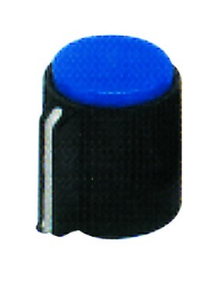 KNOB BLUE FOR 6mm SHAFT