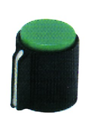 KNOB GREEN FOR 6mm SHAFT