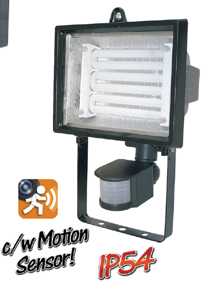 20W Rx7S CFL FLOODLIGHT C/W MOTION SENSOR AND LAMP