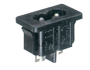 2.5A FLUSH MALE SOCKET INLET 2PIN