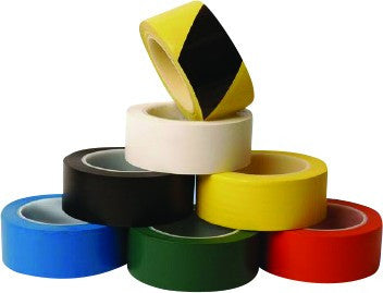 0.15mm x 50mm x 33m YELLOW/BLACK PVC FLOOR TAPE TAPE