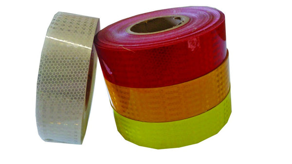 48mm x 50m WHITE HONEYCOMB REFLECTIVE TAPE