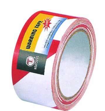 PVC WARNING TAPE RED/WHITE 500M ROLL