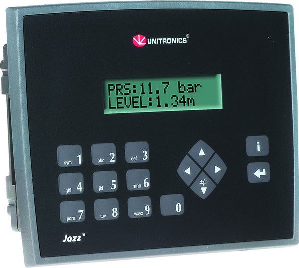 JAZZ 2 MICRO PLC/HMI 24VDC 8 IN / 6 RELAY OUT CLASSIC PANEL