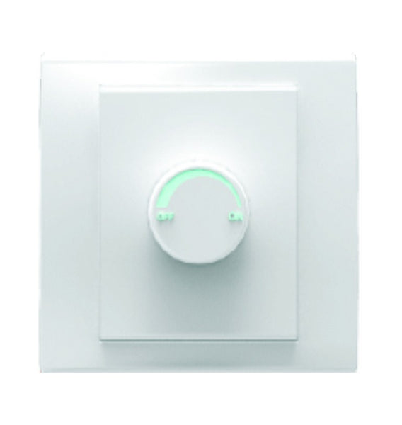 ROTARY DIMMER SWITCH 250W WHITE FOR 3X3 BOX