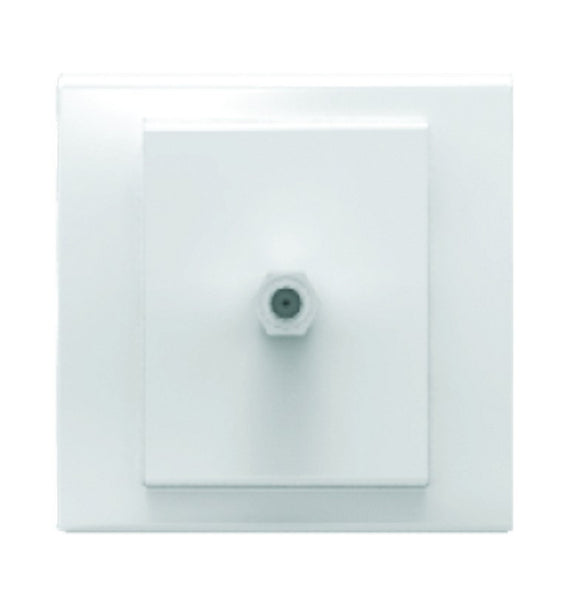SAT/TV SOCKET WHITE FOR 3X3 BOX