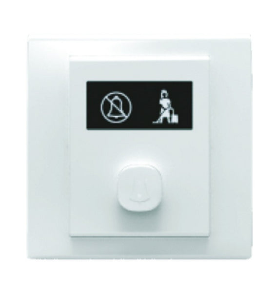 HOTEL DOOR BELL SWITCH WHITE FOR 3X3 BOX