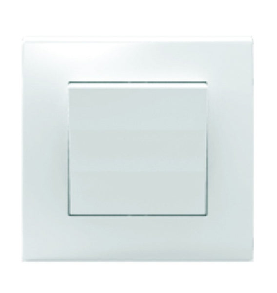 1 LEVER 1 WAY SWITCH 10A WHITE FOR 3X3 BOX