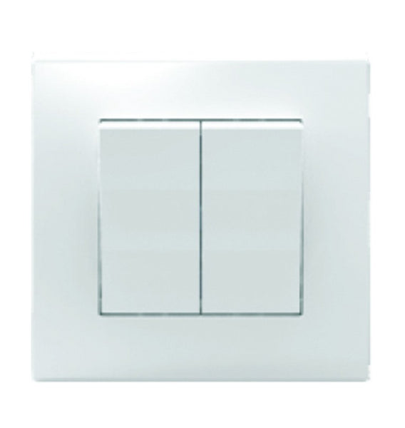 2 LEVER 1 WAY SWITCH 10A WHITE FOR 3X3 BOX