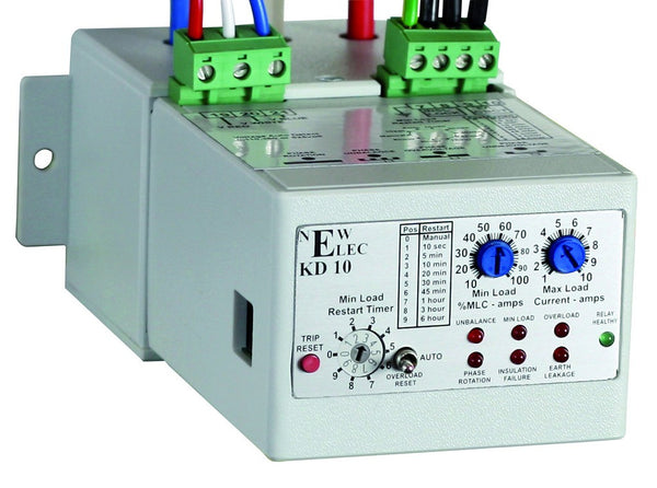 NEWELEC ELECTRONIC O/L RELAY 25-200A 110/230V