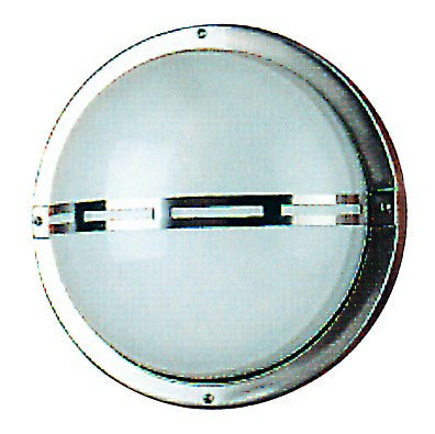 S/STEEL DOME WALL LIGHT 230V E27 60W 110Dx190D IP44