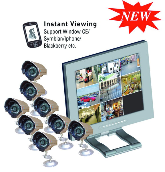 "8 CAMERA C/W 18M CABLE & 19"" LCD/8CH  MONITOR & DVR 1TB HDD"
