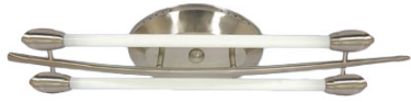 230VAC 2FT 2X9W SATIN NICKEL FITTING 880X160MM