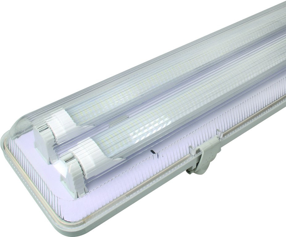 2x22w Led Fitting 5ft Ip65 Tubes Not Included Acdc