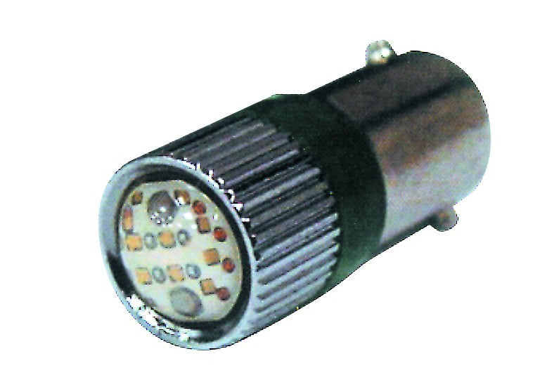 24VAC/DC GREEN CLUSTER LED BA9S 8 CHIP