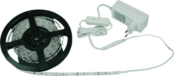 LED COOL WHITE LED FLEX LIGHT STRIP 300LED C/W PSU  5M IP20