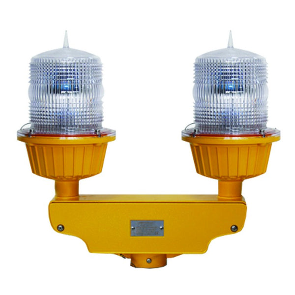 2 X 110-240VAC, 6W, OBSTRUCTION LIGHT, FLASH RED, 150Ø X 250