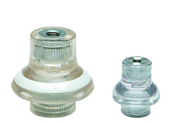 M8 LV SKIRTED INSULATOR. F-F, CLEAR
