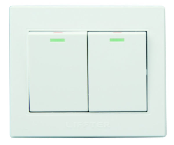 2 LEVER 2 WAY 3X3 SWITCH WHITE