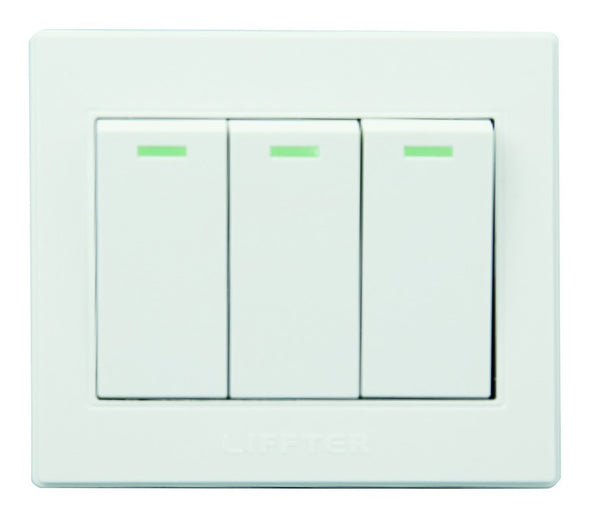 3 LEVER 2 WAY 3X3 SWITCH WHITE