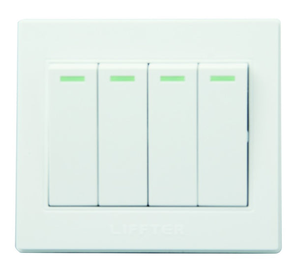 4 LEVER 2 WAY 3X3 SWITCH WHITE