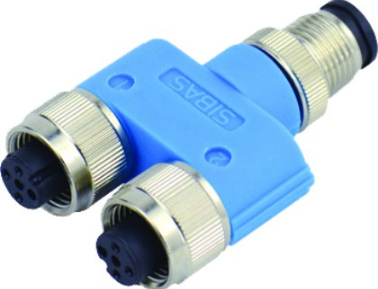 M12 4-POLE Y DISTRIBUTOR CONNECTOR IP67
