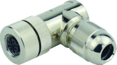M12 4-POLE FEMALE SCREW CONNECTION R/A SHIELDEDPG7 IP67