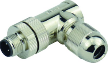 M12 4-POLE MALE SCREW CONNECTION R/A SHIELDED PG7 IP67